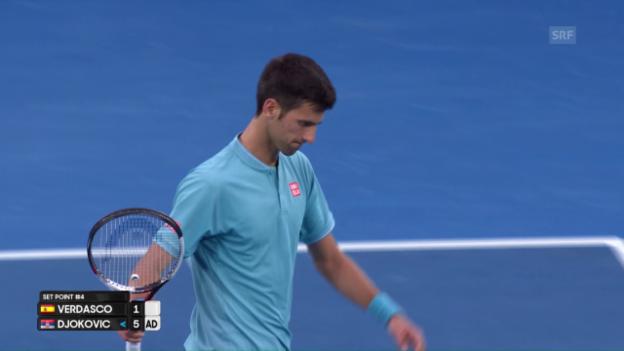 Video «Zusammenfassung Verdasco-Djokovic» abspielen