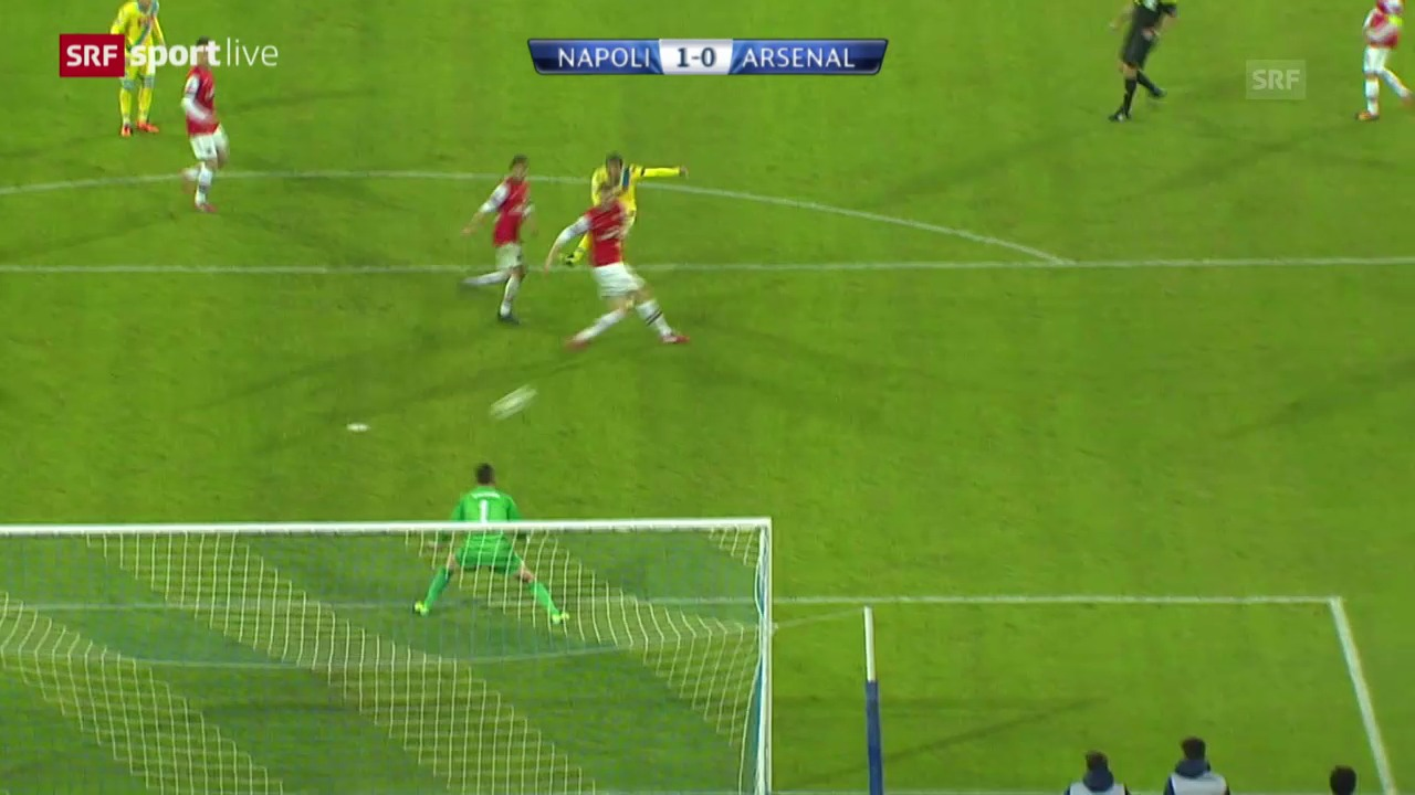 Fussball: CL, Napoli - Arsenal («sportlive», 11.12.2013)