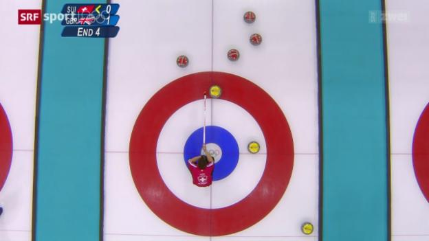 Video «Curling: Zwei Niederlagen für die Schweizer» abspielen