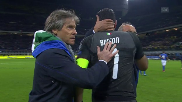 Video «Tränen nach dem Schlusspfiff: Italien verpasst die WM» abspielen