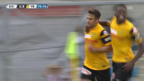 Video «Fussball: Sion - YB, Tor Sulejmani» abspielen