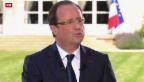 Video «Präsident im Sturmtief: François Hollande hat Halbzeit» abspielen