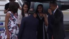 Video «Die Obamas kommen in Kuba an (unkomm.)» abspielen