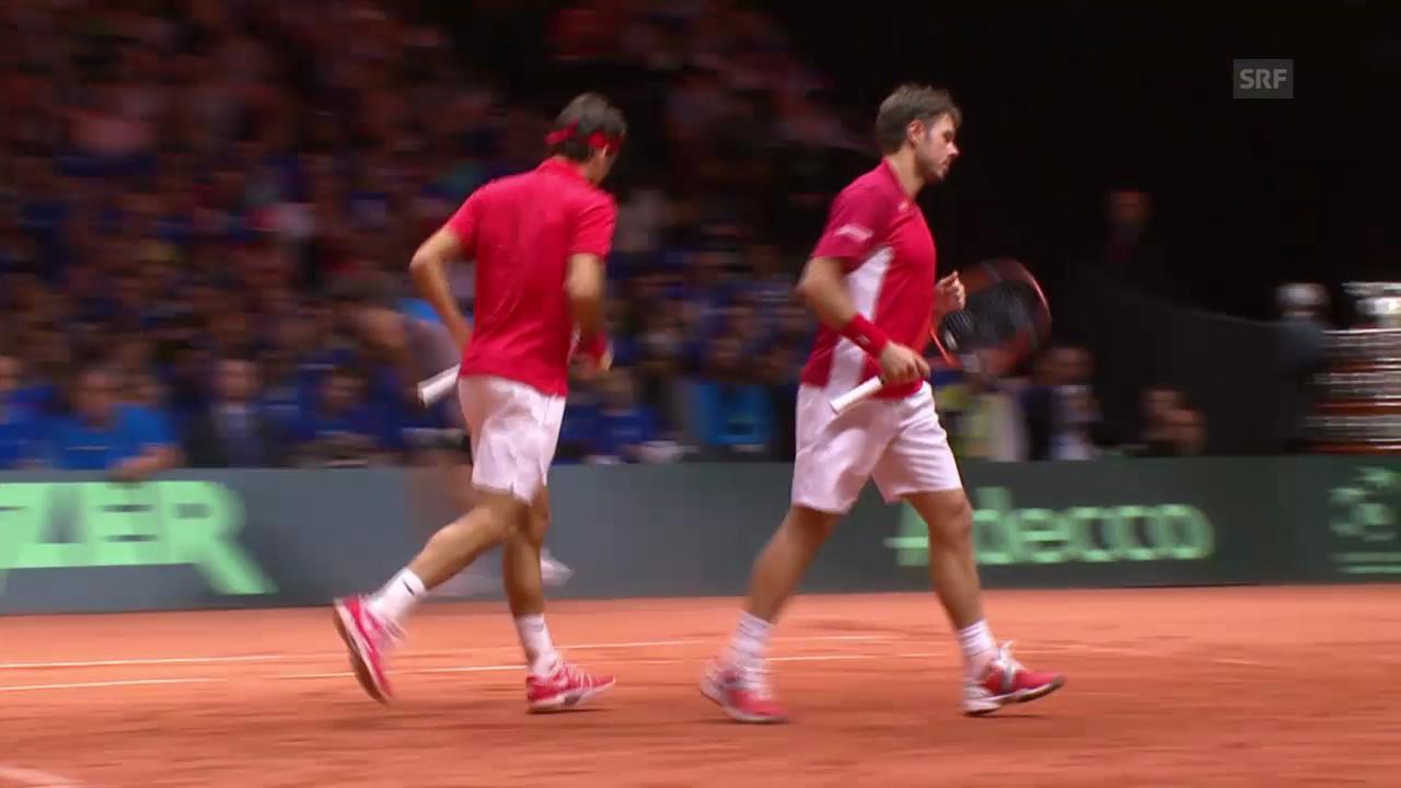 Tennis: Davis Cup, Live-Highlights Doppel