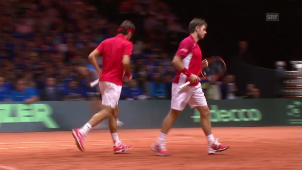 Video «Tennis: Davis Cup, Live-Highlights Doppel» abspielen