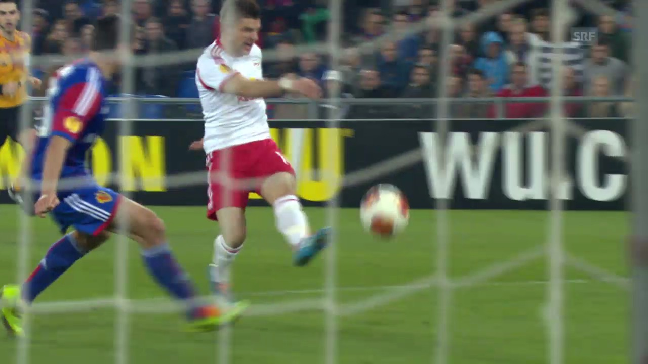 Fussball: Highlights Basel - Salzburg («sportlive», 13.3.14)
