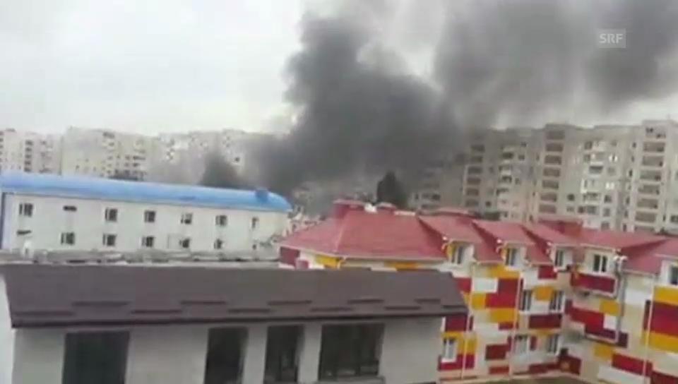 Luftangriffe bei Donezk