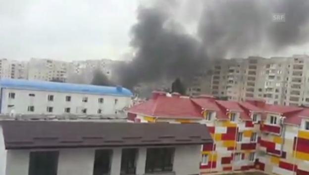 Video «Luftangriffe bei Donezk» abspielen