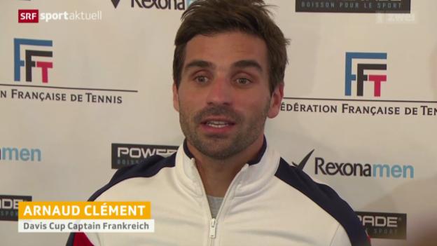 Video «Tennis: Team Frankreich vor dem Davis Cup» abspielen