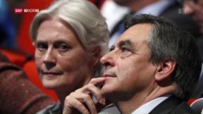 Video «Präsidentschaftskandidat Fillon unter Druck» abspielen