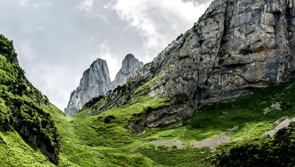 Natur pur, Schweizer Berge im Hoch