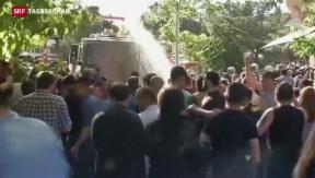 Video «Anhaltende Proteste nach dem Minenunglück in der Türkei» abspielen