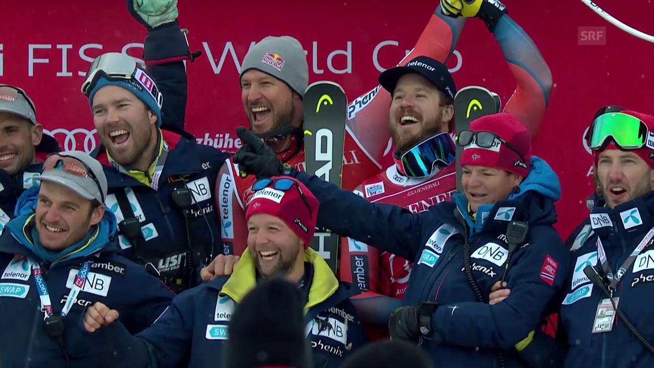 Norwegischer Doppelsieg beim Super-G in Kitzbühel