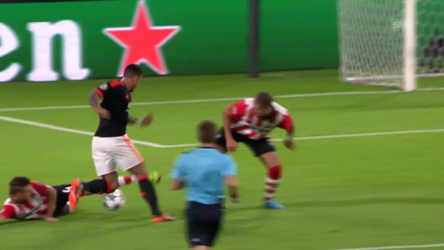 Video «Fussball: CL, Tor Memphis PSV - ManUnited» abspielen