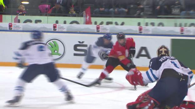 Video «Eishockey: U18-WM, Schweiz-Finnland» abspielen