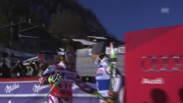 Video «Ski: Riesenslalom der Männer in Val d'Isère, die Siegesfahrt von Marcel Hirscher» abspielen