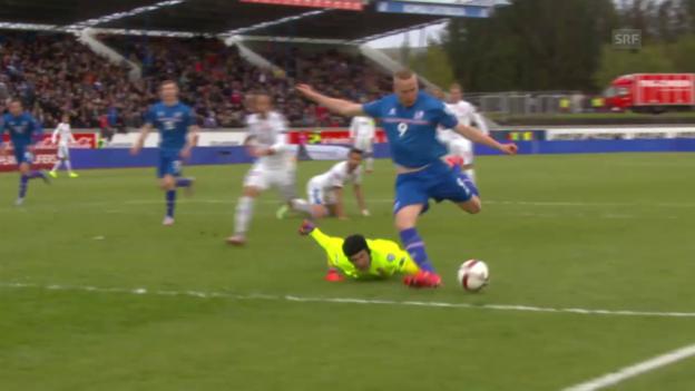 Video «Fussball: EM-Qualifikation, Island-Tschechien» abspielen