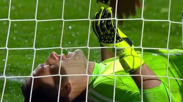 Video «Fussball: Copa America, Viertelfinal, Argentinien - Kolumbien, Ospinas Grosstat» abspielen