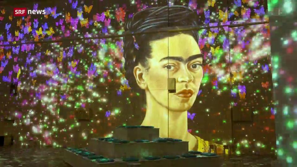 «Viva Frida Kahlo»-Installation in der Lichthalle Maag Zürich
