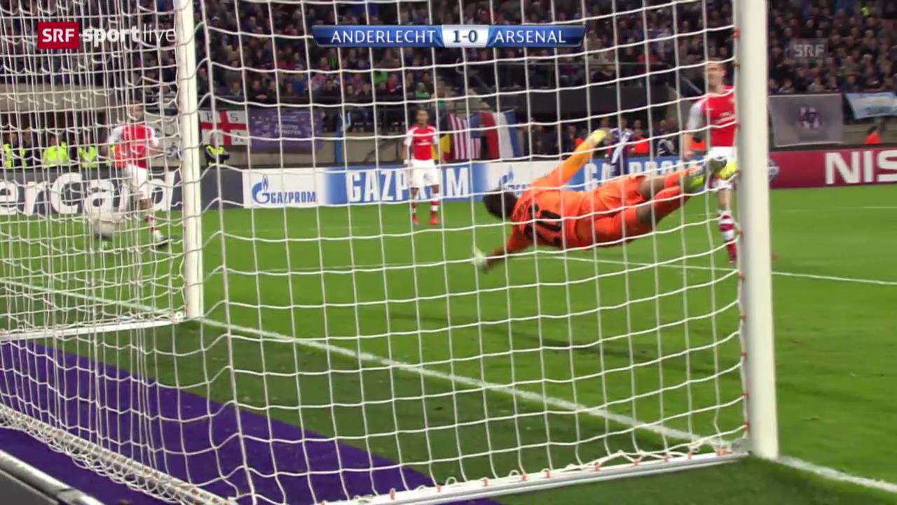 Fussball: CL, Anderlecht - Arsenal