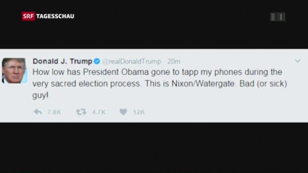 Video «Obama soll Trump abgehört haben» abspielen