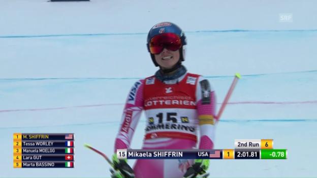 Video «Mikaela Shiffrins Siegesfahrt» abspielen