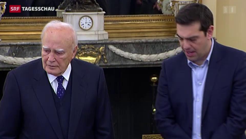 Die neue griechische Regierung hat ein Gesicht