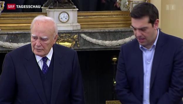 Video «Die neue griechische Regierung hat ein Gesicht» abspielen