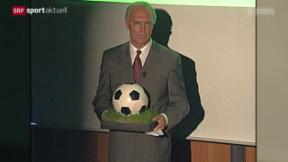 Video «Fussball: Franz Beckenbauer nach WM-Affäre unter Beschuss» abspielen