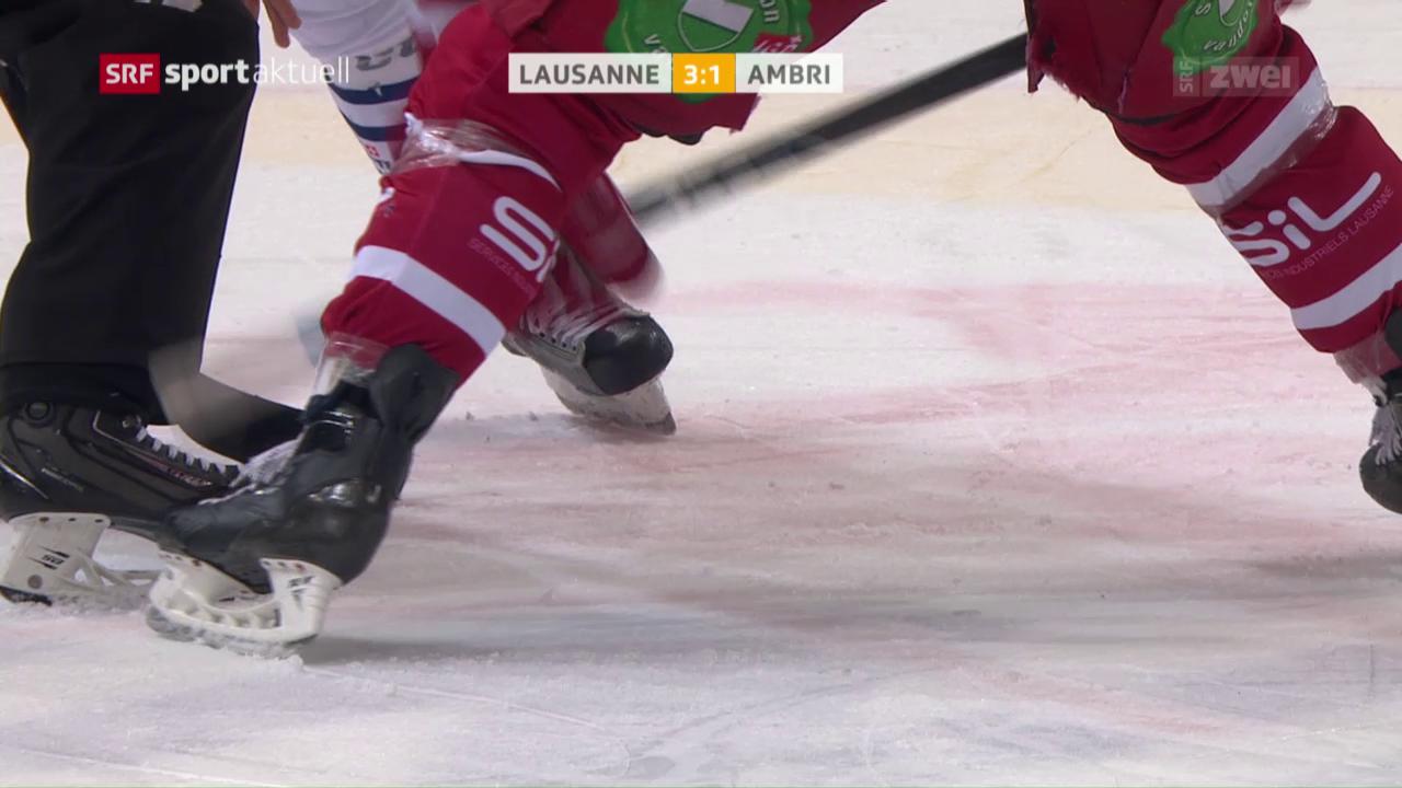 Lausanne gegen Ambri in Spiellaune