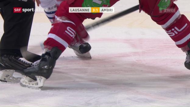 Video «Lausanne gegen Ambri in Spiellaune» abspielen