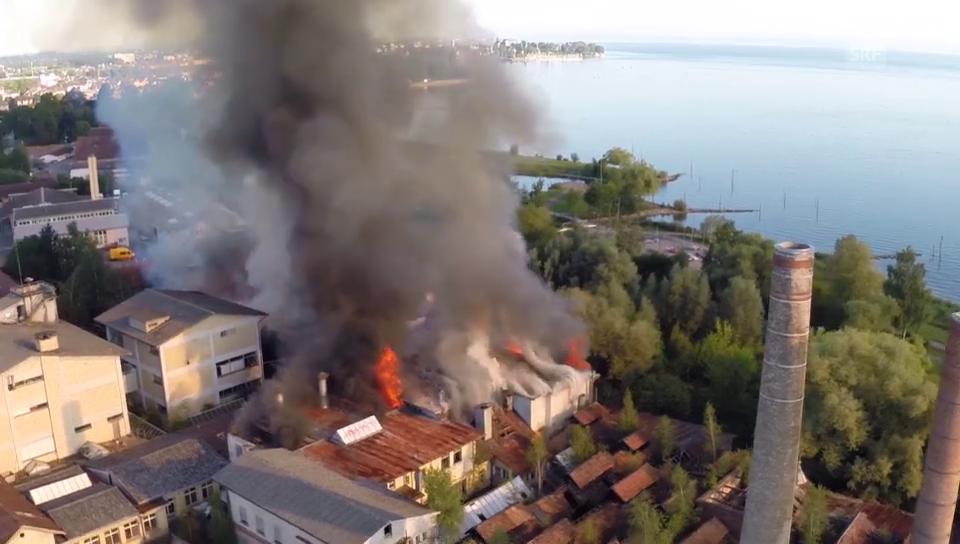 Luftaufnahmen des Grossbrandes