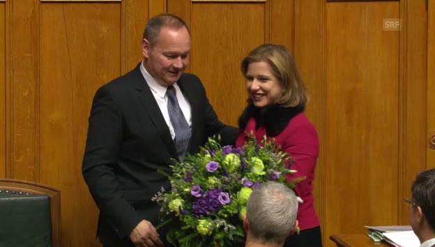 Video «Jürg Stahl ist neuer Nationalratspräsident» abspielen
