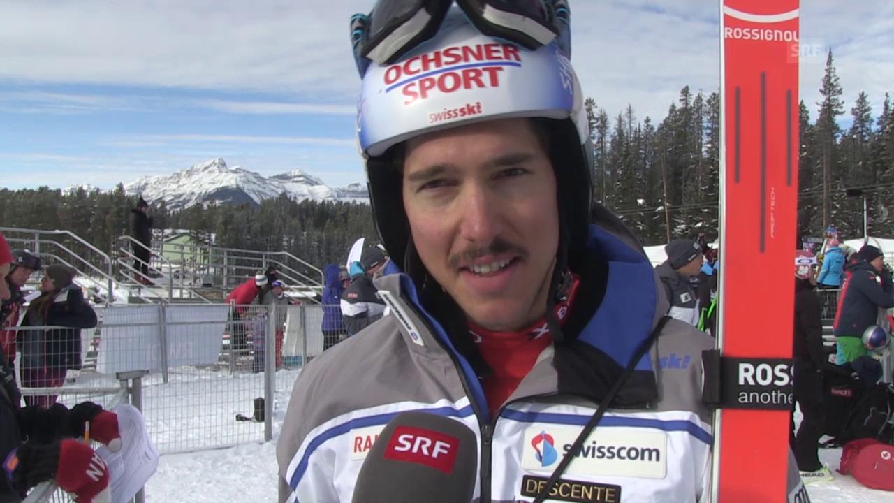 Ski Weltcup: Abfahrt Lake Louise, 2. Training, Reaktion Janka