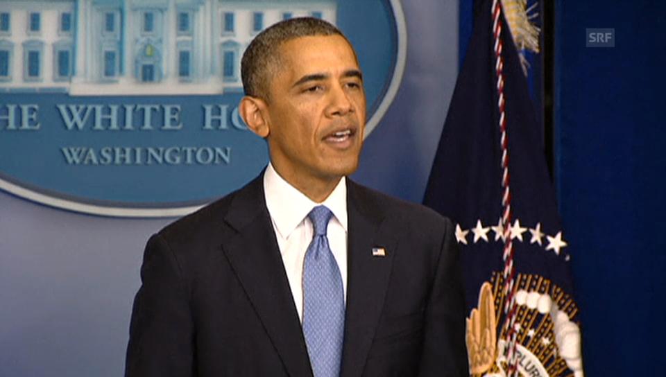 Obama erklärt, was sich mit dem Shutdown verändert (Originalsprache)