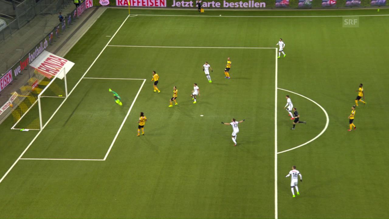 Thuns Dejan Sorgic trifft gegen YB herrlich zum 2:0