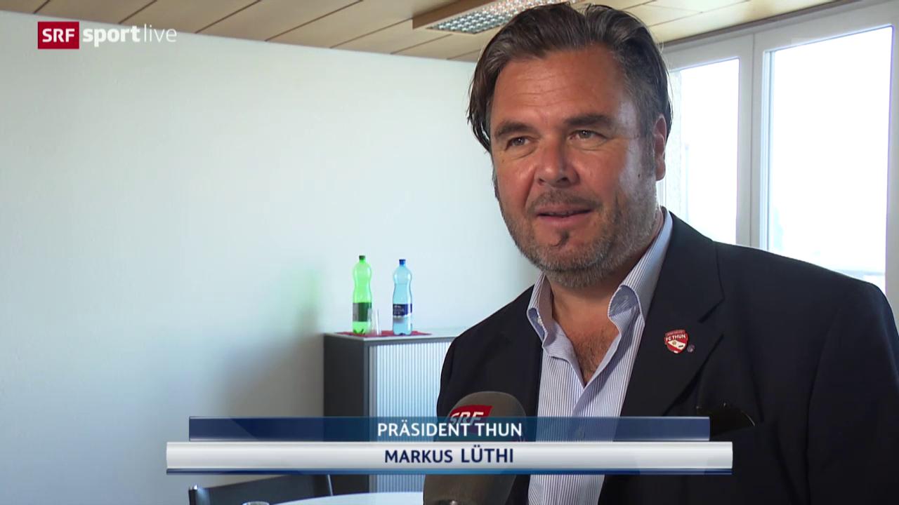 Fussball: Super League, Thun-Präsident Markus Lüthi zur Sforza-Demission