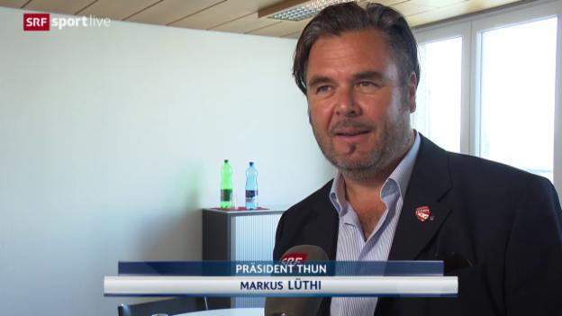 Video «Fussball: Super League, Thun-Präsident Markus Lüthi zur Sforza-Demission» abspielen