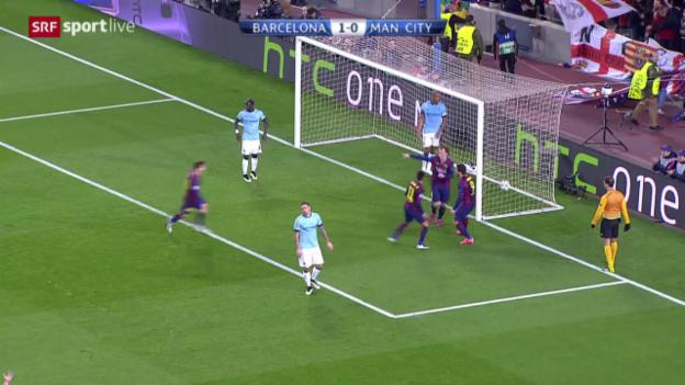 Video «Fussball: Champions-League-Achtelfinals, Barcelona - Manchester City» abspielen