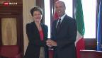 Video «Bundesrätin Sommaruga in Italien.» abspielen