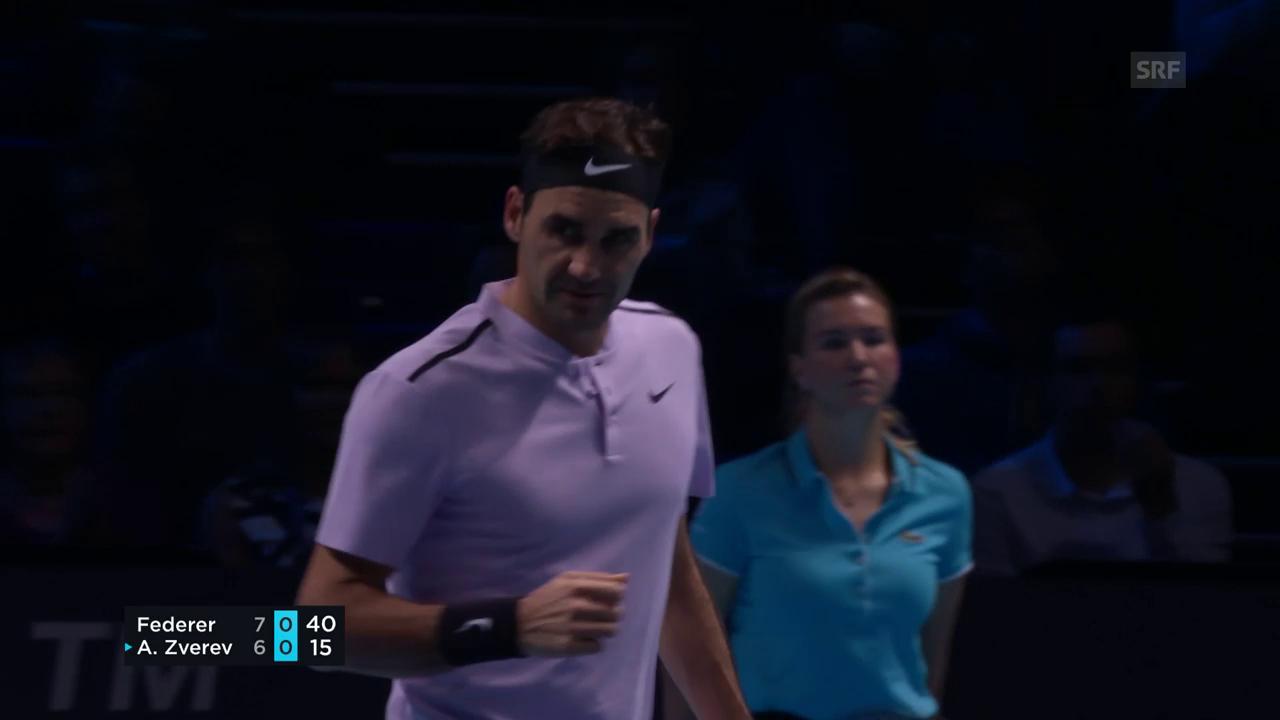 Federer ringt Zverev nieder