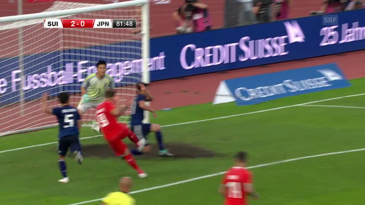 Der schöne Spielzug zum 2:0 für die Schweiz