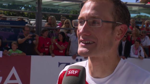 Video «Leichtathletik-EM: Interview mit Christian Kreienbühl» abspielen