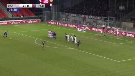 Video «Fussball: Schweizer Cup, Sion - Basel, Tor Elneny 2:1» abspielen