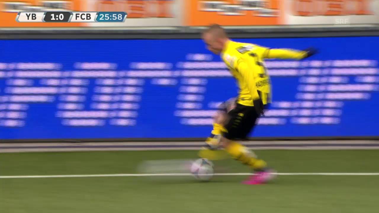Fussball: Super League, YB - Basel, 2:0 durch Alexander Gerndt