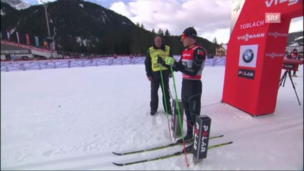 Video «Tour de Ski: Dario Cologna im Einzelrennen über 5 km klassisch» abspielen