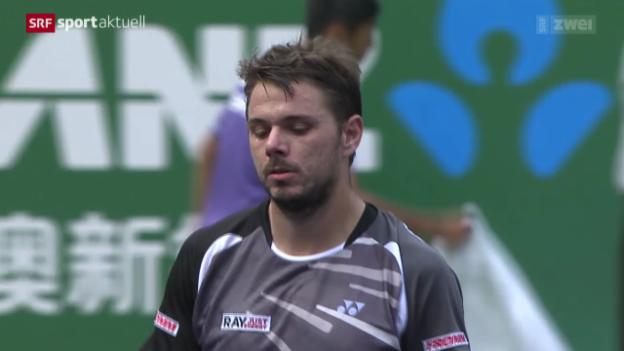 Video «Tennis: ATP Schanghai, Wawrinka - Simon» abspielen