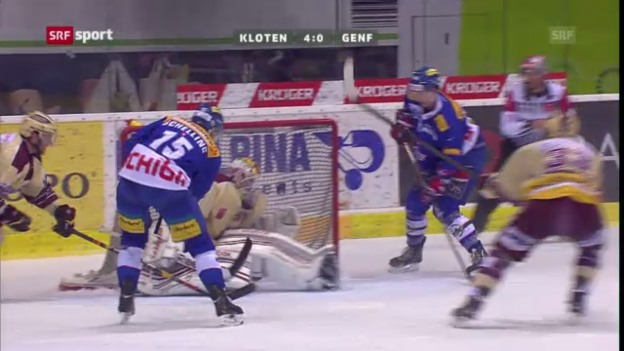 Video «Eishockey: Kloten - Servette («sportaktuell»)» abspielen