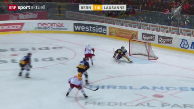 Video «Eishockey: Playoffs, SCB - Lausanne» abspielen