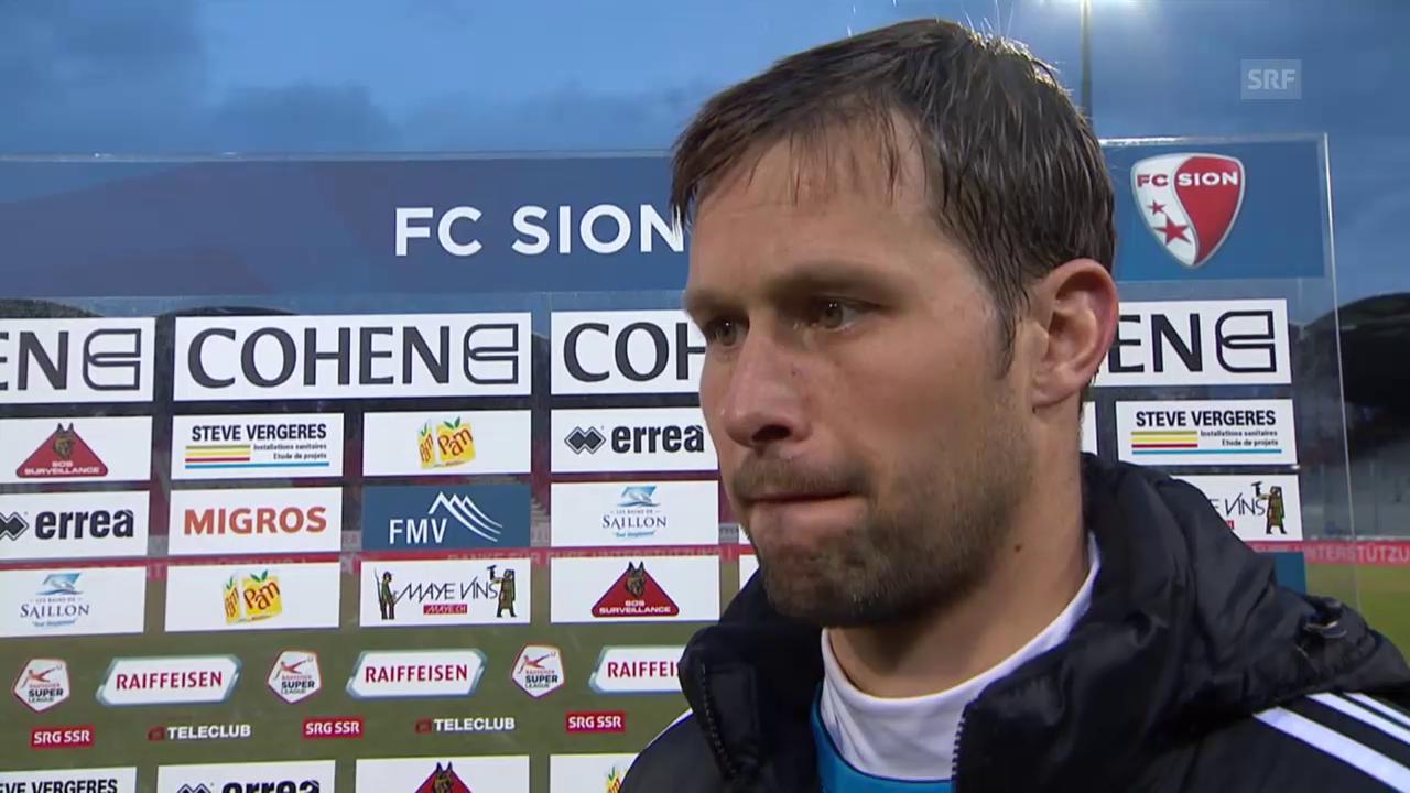 Fussball: SL, Sion - Luzern, Interview David Zibung